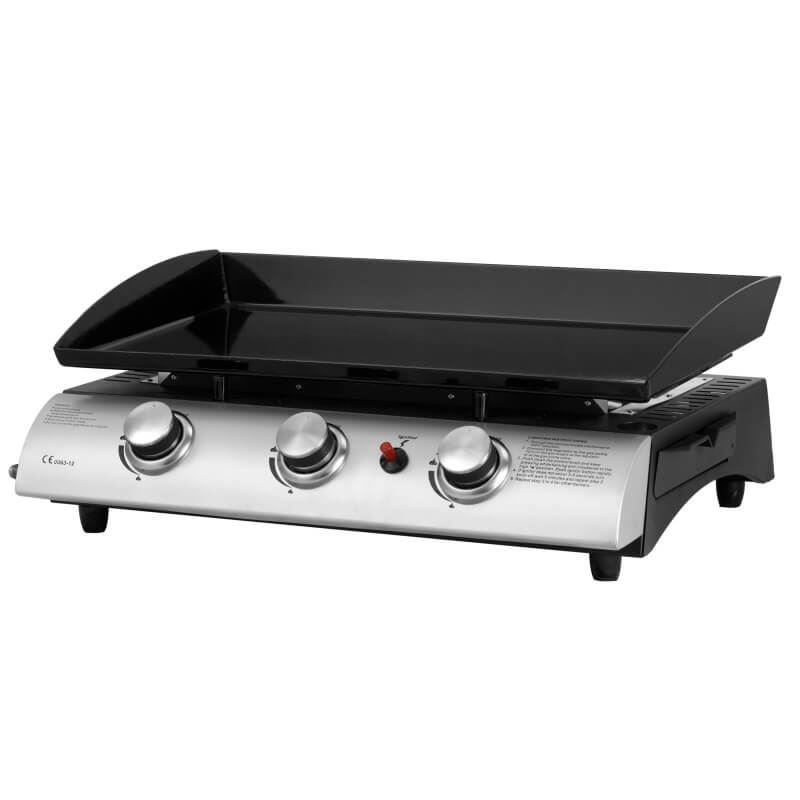 gas 3 burner barbecue plancha griddle. Black Bedroom Furniture Sets. Home Design Ideas