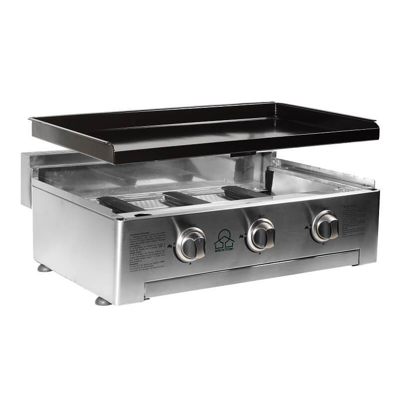 gas plancha 3 burner gas bbq plancha at garden gift shop. Black Bedroom Furniture Sets. Home Design Ideas