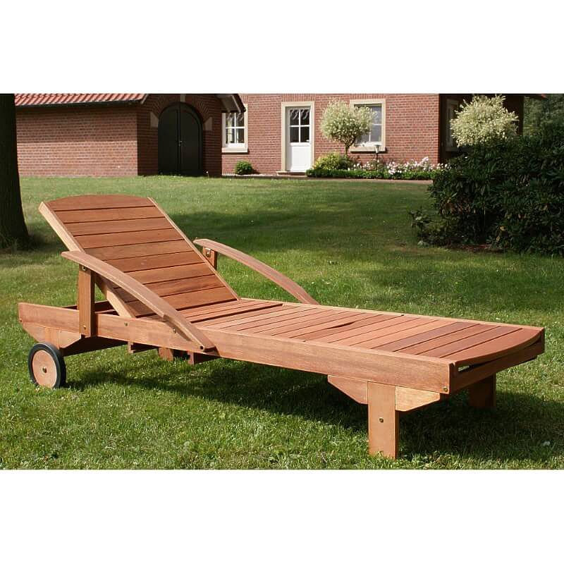 adjustable wooden garden sun lounger. Black Bedroom Furniture Sets. Home Design Ideas