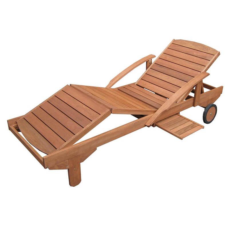 Adjustable Wooden Garden Sun Lounger