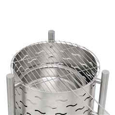 Silverado Outdoor Stainless Steel Fire Pit with BBQ Grill