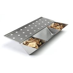 Stainless Steel V-shaped Smoke Box with Water Reservoir