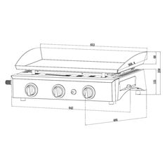 Gas Plancha with 3 Burners