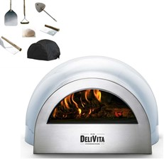 DeliVita Portable Outdoor Wood Fired Pizza Oven