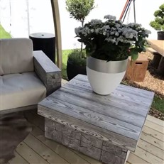 Foremost Block Coffee Table for Outdoors