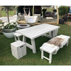 Foremost Natural White Timber Effect Bench