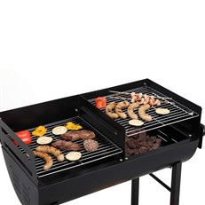 Large Detroit Barrel BBQ Grill with Trolley