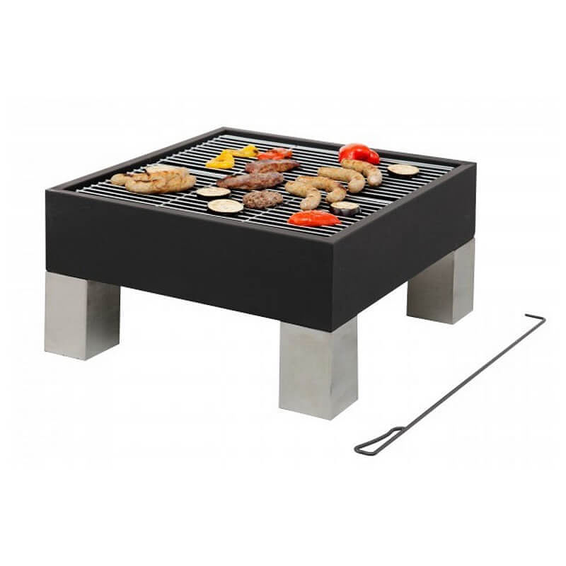 Modern fire pit and bbq grill combined for Modern barbecue grill
