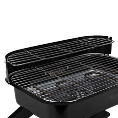 2000W Electric or Charcoal Hybrid BBQ Grill