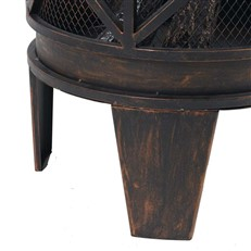 Gracewood Outdoor Wood Burning Fire Pit Basket