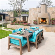 Extra Large Wood Fired Garden Fireplace