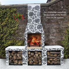 Outdoor Wood Burning Fireplace and BBQ Grill