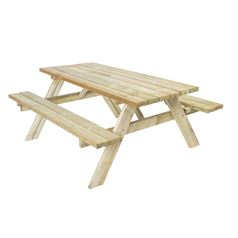 Large Heavy Duty Classic Wooden Garden Picnic Table