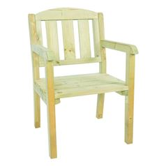 Single Wooden Garden Bench Chair