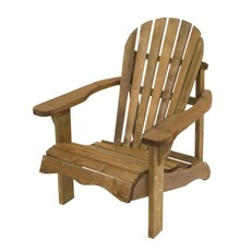 Single Adirondack Relax Wooden Garden Chair