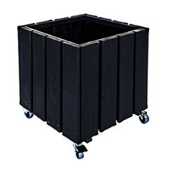 Small Black Valmiera Flower Box With Castors