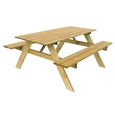 Light Combined Wooden Garden Picnic Bench with Table