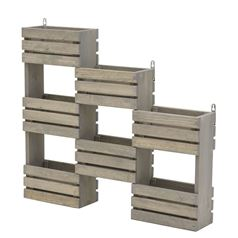 Wooden Wall Mounted Hanging Shelves for Potted Plants