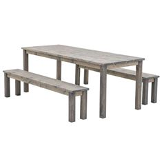 Cesis 180 Wooden Garden Table and Bench Set