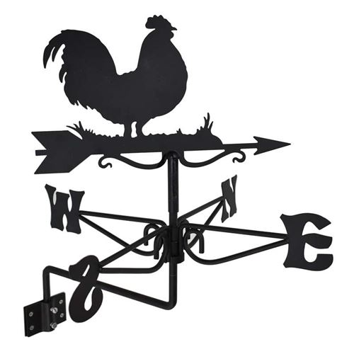 Cockerel Black Mini Weathervane