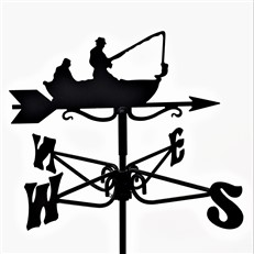 Fisherman Black Mini Weathervane