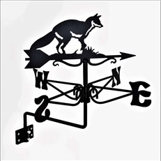 Fox Black Mini Weathervane