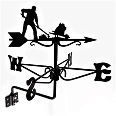 Gardener Black Mini Weathervane