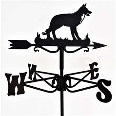 German Shepherd Dog Black Mini Weathervane