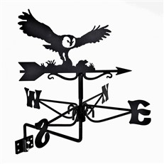 Owl and Mouse Black Mini Weathervane
