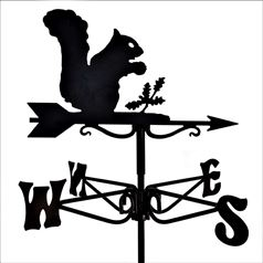 Squirrel Black Mini Weathervane