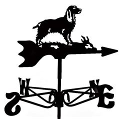 Springer Spaniel Dog Black Mini Weathervane