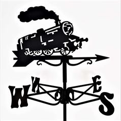 Steam Engine Black Mini Weathervane