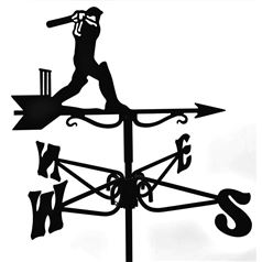 Cricketer Black Mini Weathervane