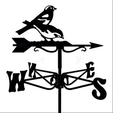 Chaffinches Black Mini Weathervane