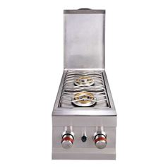 Propane Gas Stainless Steel Double Burner