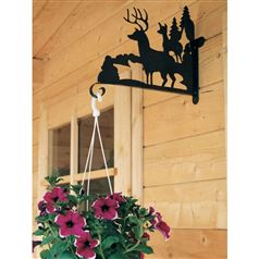 Decorative Garden Hanging Basket Bracket of Deer in a Forest