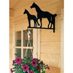 Quality Outdoor Hanging Basket Bracket of a Mare with her Foal