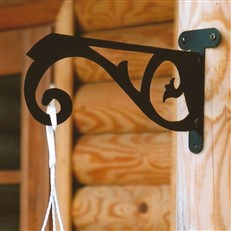 Outdoor Garden Bracket with Decorative Scroll Design