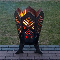 Quality Outdoor Steel Fire Pit with Baltic Fir Design