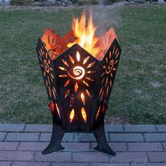 Quality Steel Outdoor Sunrise Fire Pit