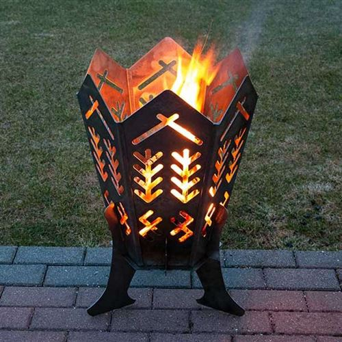 Durable Steel Outdoor Fire Pit with Baltic Home Design