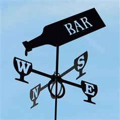 Large Black Steel Pub Weathervane