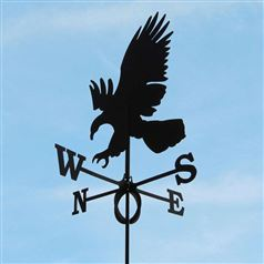 Large Black Steel Eagle Weathervane