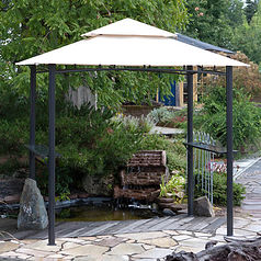 Metal Gazebo and BBQ Shelter