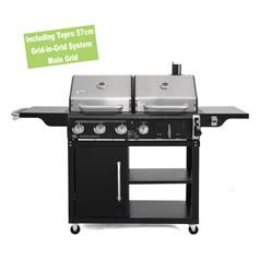 Buffalo Dual Fuel Charcoal and Gas Combo BBQ Grill