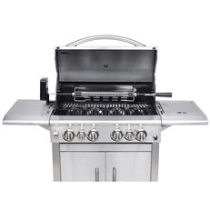 Keansburg Stainless Steel Gas BBQ Grill with Rotisserie