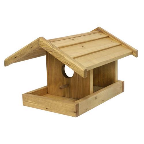 Hanging Bird Table with Bird Box Front