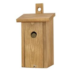Bird Nest Box with Oak Finish