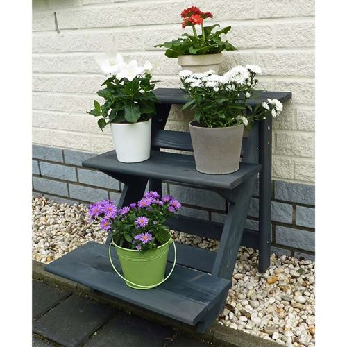 Step Plant Stand in Anthracite-Grey