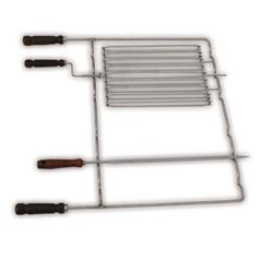 Masonry BBQ Rack with Skewer and Grill Basket